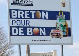 realisation d'un panneau publicitaire pour Terre de Breizh