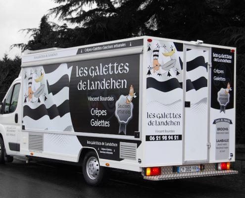 Marquage d'un food-truck - Entreprise Bourdais